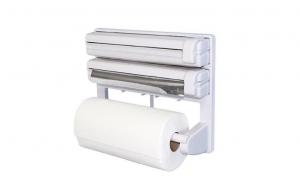 Dispenser triplu de bucatarie pentru rola de hartie, folie de aluminiu si folie alimentara, Alb [1]