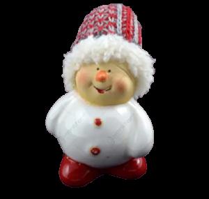 Figurina realizata din ceramica reprezentand un om de zapada ideala pentru decoratiunea de sarbatoare [1]