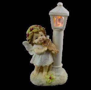 Figurina decorativa realizata din rasina cu lumina led – Ingeras cu vioara [1]