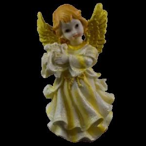 Figurina decorativa realizata din ceramica – Inger – Auriu – Diferite modele 18CM1