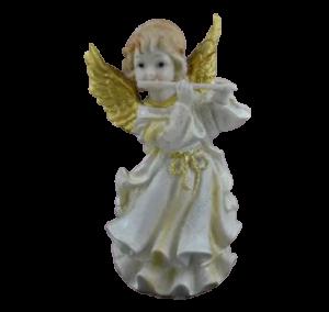 Figurina decorativa realizata din ceramica – Inger – Auriu – Diferite modele 18CM0
