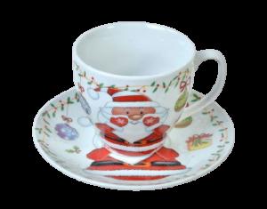 Set promo ceramica cana farfurie mos craciun1