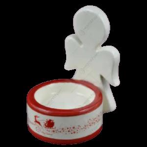 Candela realizata din ceramica in forma de inger – Design Ingeras1
