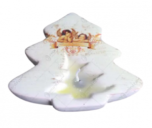 Candela pentru lumanare realizata din ceramica – Design Brad & Ingeri1