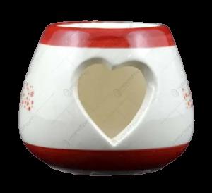 Candela rotunda realizata din ceramica – Design Mos Craciun [1]