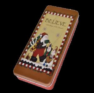 Cutie metalica pentru cadouri 24×10 CM – Design Craciun2