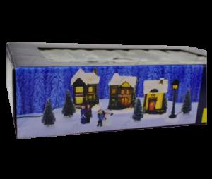 Set 10 decoratiuni cu led pentru Craciun – Casute. brazi si figurine1