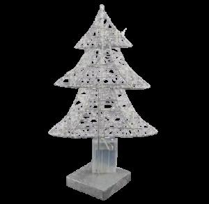 Decor masa brad cu 20 de leduri – Argintiu1