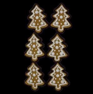Set 6 cleme decorative in forma brad de turta dulce