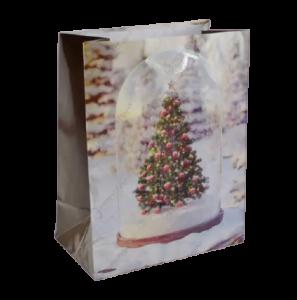 Punga pentru cadouri medie – Design cu brad