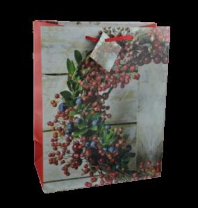 Punga pentru cadouri – Design cu coroana decorata cu bobite