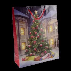 Punga pentru cadouri – Design cu brad