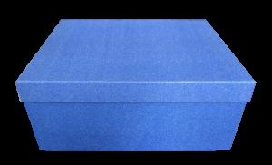 Cutie cadou cu sclipici - Albastru0