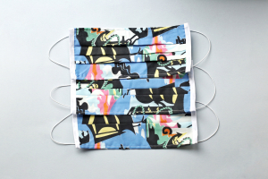 Set 5 x Mască pentru față reutilizabilă cu 2 straturi din bumbac #93