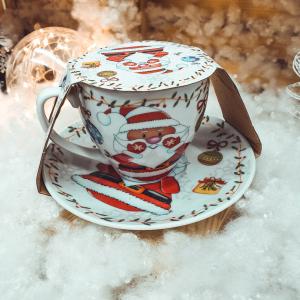 Set promo ceramica cana farfurie mos craciun0