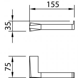 Suport hartie toaleta VENTU (fara acoperire)1