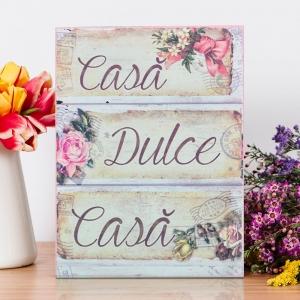 Tablou Canvas Casa Dulce Casa 20X15 CM0