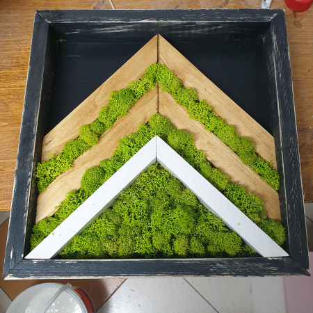 Tablou de Perete Mountain din Licheni si Lemn [0]