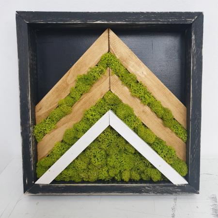 Tablou de Perete Mountain din Licheni si Lemn [1]