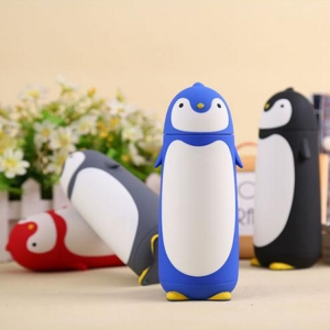 Termos Pinguin, Sticla cu Husa din Silicon, Capac cu Filet din Plastic 300 ml2