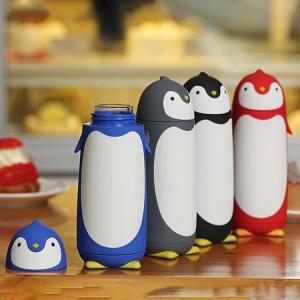 Termos Pinguin, Sticla cu Husa din Silicon, Capac cu Filet din Plastic 300 ml1