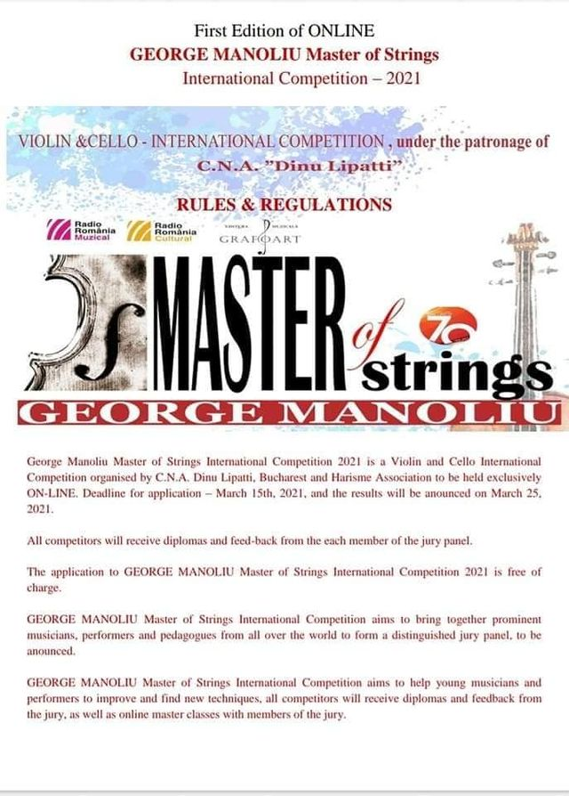 Festivalul International GEORGE MANOLIU Master of Strings