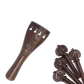 Set chei/cordar tintul sculptate-Fleur de Lys vioara [0]