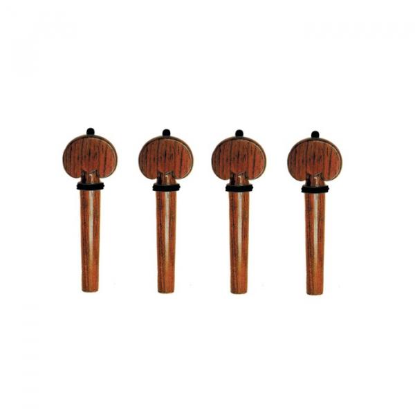 Set chei heart palisandru viola, ornament negru 0