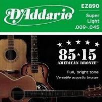 Set corzi chitara acustica D'addario - EZ890 0