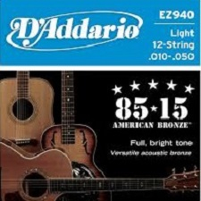 Set corzi chitara acustica D'addario - EZ940 0