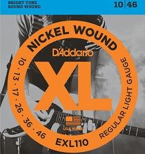 Set corzi chitara electrica D'addario - EXL110 0