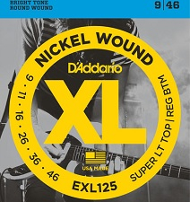 Set corzi chitara electrica D'addario - EXL125 0