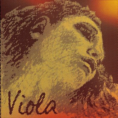 Coarda C Evah Pirazzi Gold wolfram-argint viola1