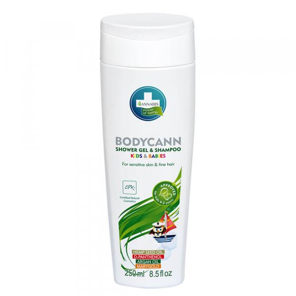 Annabis - Gel de duș și șampon natural 2 în 1 pentru copii și bebeluși - 250 ml 0