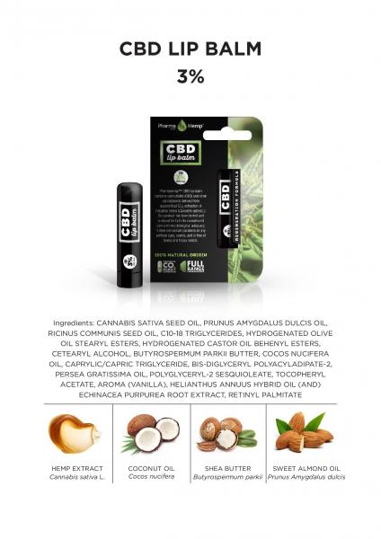 Balsam de buze CBD 4,5g 3% 1