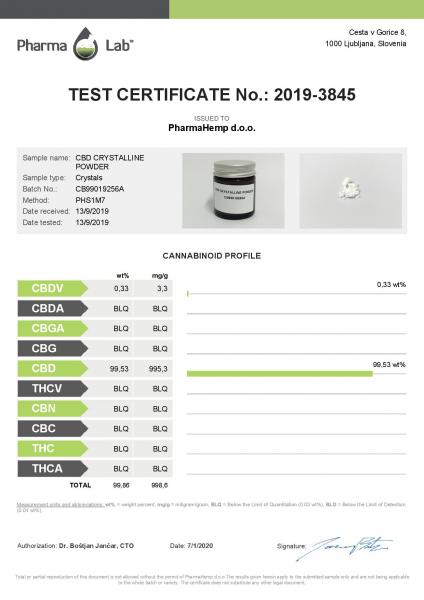Cristale CBD 'PharmaHemp ' CBD 99,6% - 0,5gr CBD Izolat [2]
