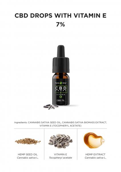 Pharma Hemp - Ulei CBD cu vitamina E - 7% 2