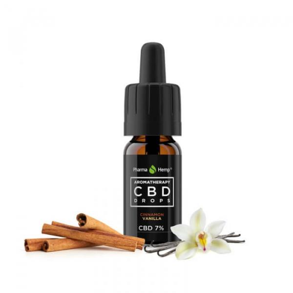 Pharma Hemp - CBD Ulei 'Aromatherapy' Vanilie și Scorțișoară - 7% Full Spectrum [1]