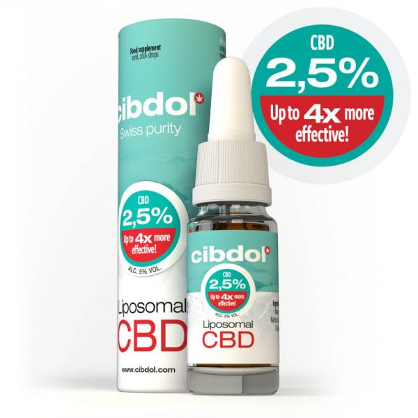 Cibdol - Ulei Lipozomal cu CBD 2,5% 0