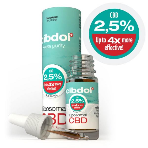 Cibdol - Ulei Lipozomal cu CBD 2,5% 1
