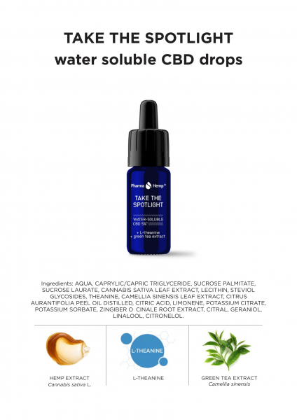 Pharma Hemp - 'Take the spotlight' Picături solubile în apă 5% CBD Full Spectrum [4]