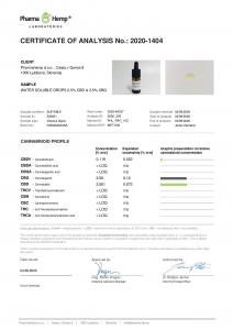 Pharma Hemp - 'Chill Out' Picaturi solubile in apa CBD + CBG5
