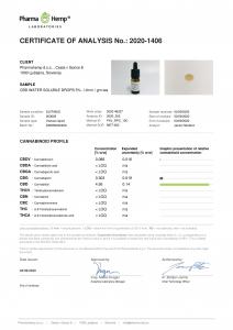 Pharma Hemp - 'Take the spotlight' Picături solubile în apă 5% CBD Full Spectrum [5]