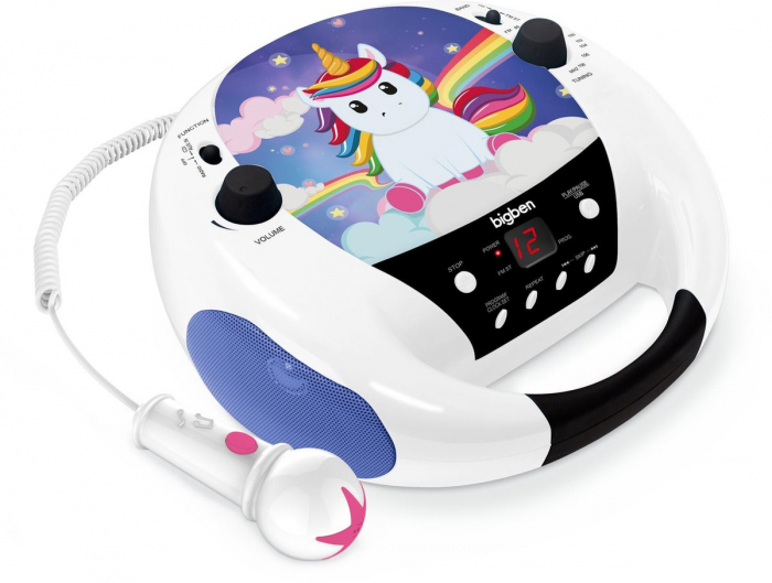 CD-Player interactiv pentru copii cu microfon, BigBen, albastru 0