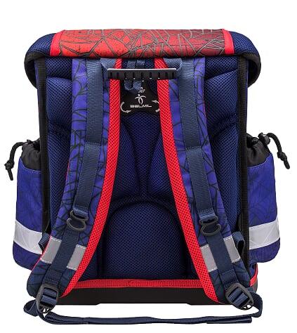 Ghiozdan Spiders Ergonomic echipat cu 2 penare si sac sport 4
