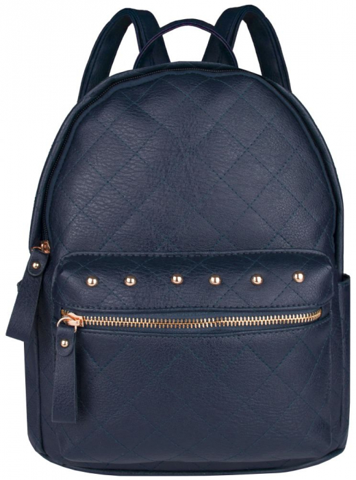 Rucsac Fete Quilted, piele ecologica Bleumarin 0