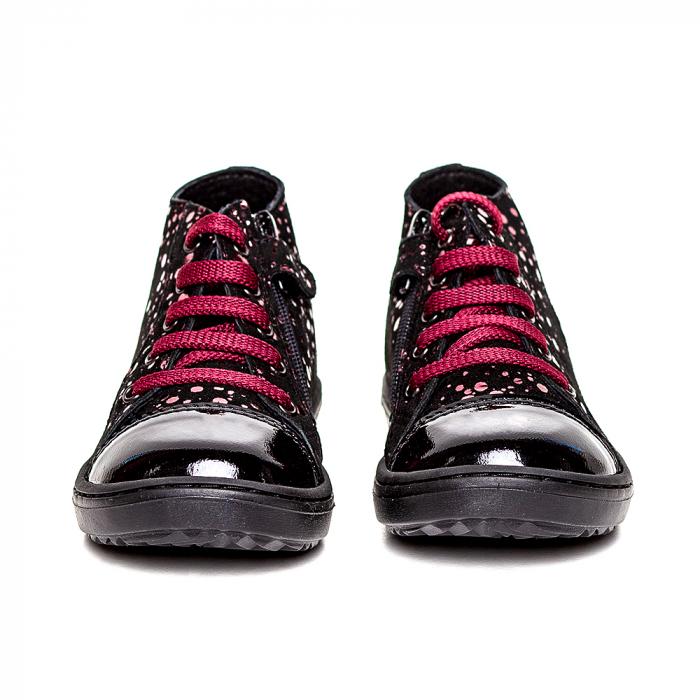 Pantofi primii pasi din piele Rocky Negru Bordo 2