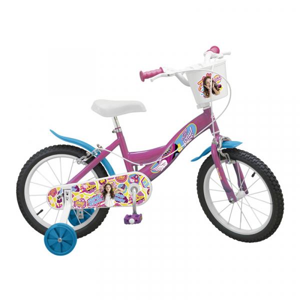bicicleta pentru copii fete 16 inch Disney Channel 5 6 7 ani biciclete Soy Luna imagini poze noriel emag zambirici 0