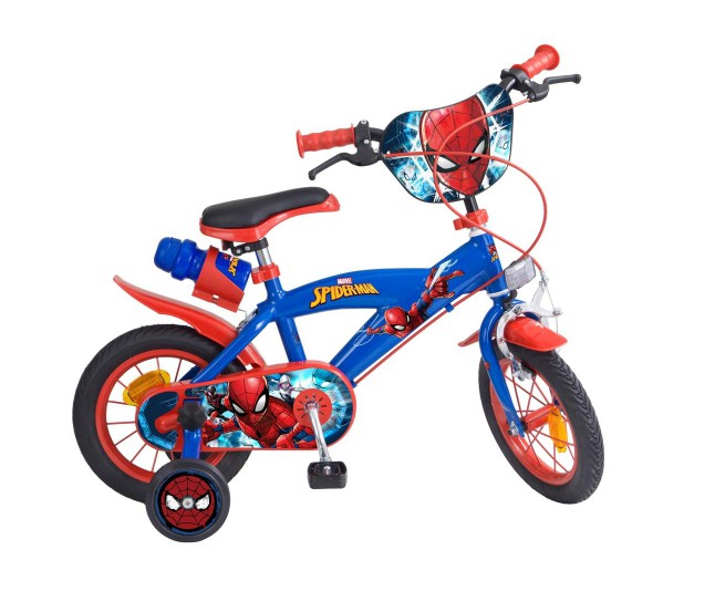bicicleta-roti-ajutatoare-copii-baieti-toimsa-marvell-spider-man-14-inch-4-5-6-ani 0
