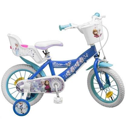 Bicicleta copii Fete Disney Frozen Ana si Elsa 14 inch 4 5 6 ani Toimsa 0